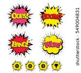 comic boom  wow  oops sound...   Shutterstock . vector #549004831