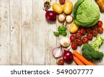 healthy food background.... | Shutterstock . vector #549007777