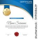vector certificate template. | Shutterstock .eps vector #549008629