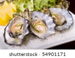 a restaurant of oysters in the... | Shutterstock . vector #54901171