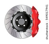 automobile car disc brake...   Shutterstock .eps vector #549017941