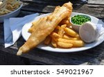 fish and chips in england  | Shutterstock . vector #549021967