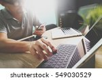 outsource developer working on... | Shutterstock . vector #549030529