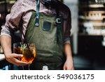 bartender making alcoholic... | Shutterstock . vector #549036175