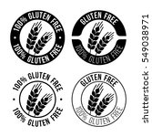 gluten free emblem. sign with... | Shutterstock .eps vector #549038971