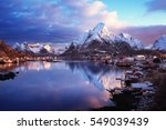Snow In Reine Village  Lofoten...