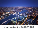 london aerial view with tower... | Shutterstock . vector #549039481