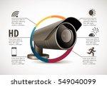 cctv camera concept   device... | Shutterstock .eps vector #549040099
