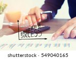 businessmen use the calculator... | Shutterstock . vector #549040165