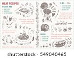 doodles sketches meat  steak ... | Shutterstock .eps vector #549040465