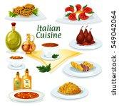 italian cuisine cartoon icon... | Shutterstock .eps vector #549042064