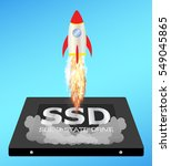 solid state drive or ssd with a ... | Shutterstock .eps vector #549045865