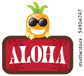 jpeg hawaiian pineapple w ... | Shutterstock . vector #54904747