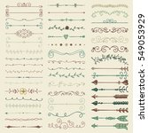 set of hand drawn colorful... | Shutterstock . vector #549053929