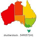 australia map with regions  | Shutterstock .eps vector #549057241