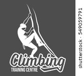 set of mountain climbing... | Shutterstock .eps vector #549059791