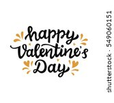 happy valentines day typography ... | Shutterstock .eps vector #549060151