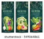 healthy vegetables and... | Shutterstock .eps vector #549064861
