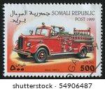 somali   circa 1999  stamp... | Shutterstock . vector #54906487