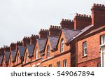 chimneys on the roof of town... | Shutterstock . vector #549067894