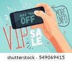 shopping material concept. vip... | Shutterstock .eps vector #549069415