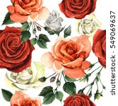 wildflower rose flower pattren...   Shutterstock . vector #549069637