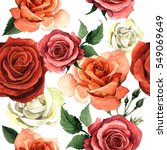 wildflower rose flower pattren... | Shutterstock . vector #549069649