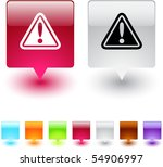 exclamation sign glossy square... | Shutterstock .eps vector #54906997