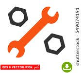wrench and nuts eps vector...   Shutterstock .eps vector #549074191