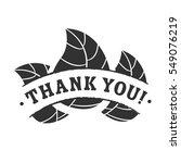 black thank you badge with... | Shutterstock .eps vector #549076219