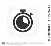 clock vector icon   | Shutterstock .eps vector #549076369