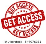 get access. stamp. red round... | Shutterstock .eps vector #549076381