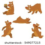 vector set of cute brown bears  ... | Shutterstock .eps vector #549077215