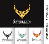 jewellery necklace abstract...   Shutterstock .eps vector #549080011