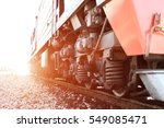 railroad freight train on the... | Shutterstock . vector #549085471