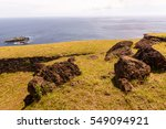 stones of the easter island ... | Shutterstock . vector #549094921