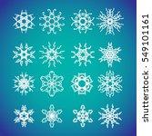 snowflake icon. winter theme....   Shutterstock .eps vector #549101161