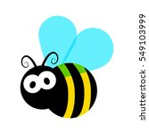 cute little bee isolated on... | Shutterstock .eps vector #549103999