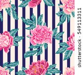 floral vector background with  ... | Shutterstock .eps vector #549113311