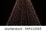 yellow gold christmas lights.... | Shutterstock . vector #549113365
