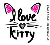 Stock vector t shirt design for girls child fashion cute clothes original calligraphic design motivation 549114985