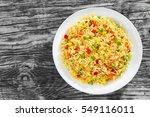 sweet corn  red bell pepper ... | Shutterstock . vector #549116011