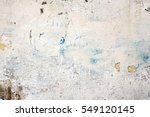 decrepit white dirty plaster...