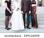 newlywed couple and their... | Shutterstock . vector #549126949