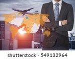 global logistics network... | Shutterstock . vector #549132964