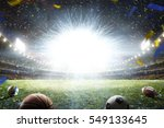 empty night grand soccer arena... | Shutterstock . vector #549133645
