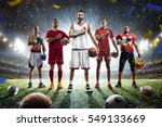 multi sports proud players... | Shutterstock . vector #549133669