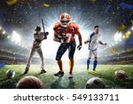 multi sports proud players... | Shutterstock . vector #549133711