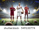 multi sports proud players...   Shutterstock . vector #549133774