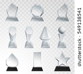 glass trophies plaque engraved... | Shutterstock .eps vector #549138541